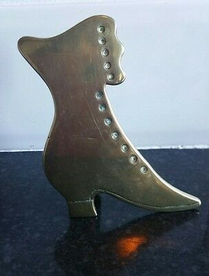 Collectable vintage hand made Victoria Brass Boot