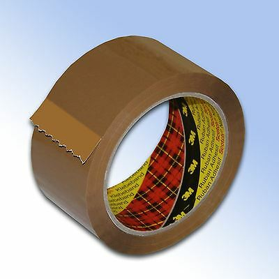 12 Roll Buff 3M Scotch Sealing Parcel Packing Tape 48mm x 66m