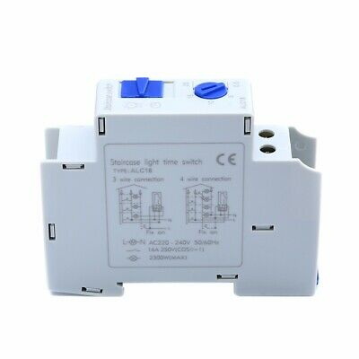 AC 220V 16A ALC18 HC18 DIN Rail Staircase Corridor Electronic Relay Switch Timer