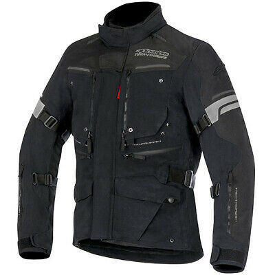 Alpinestars Valparaiso 2 DS Waterproof Textile Motorcycle Jacket Black Grey Red
