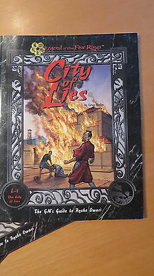 L5R - Legend of the 5 Rings - L1 The City of Lies - City of Lies