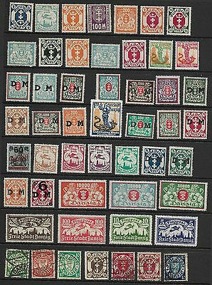 Collection of Mostly Mint Danzig Stamps