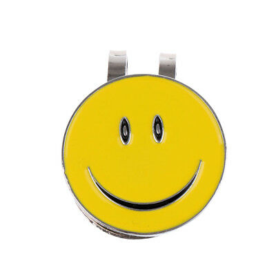 Sturdy Smile Face Magnetic Hat Visor Clip Golf Ball Markers Golf Accessories