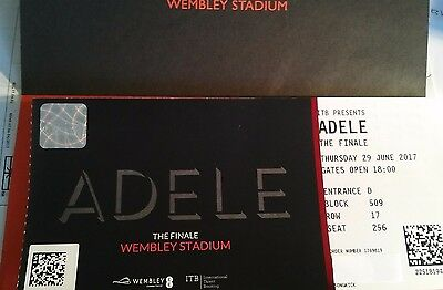 OPPORTUNITY. 2 adjoined ADELE seated tickets at Wembley Thursday 29 June
