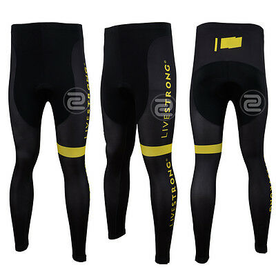 Sales Mens Cycling Long Tights Gears Road Bike Riding Bottoms Pad Pants Trousers