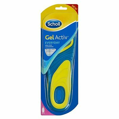 Scholl Women's Soft Firm Gel Activ Everyday Shoe Insoles Comfortable Easy Clean