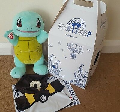 Build a bear Pokemon SQUIRTLE with BOX+BIRTH CERTIFICATE + Ultra Ball Hoodie