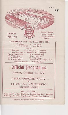 1947/48 Chelmsford City v Lovells Athletic
