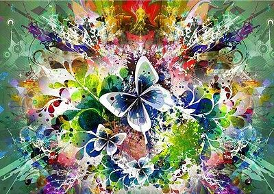BUTTERFLY HAZE FULL DIAMOND PAINTING KIT 5D CROSS STITCH MOSAICS 20x25CM
