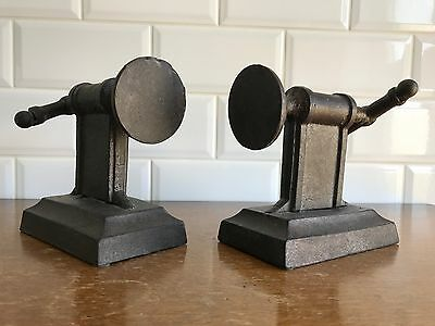 Pair of Antique Cast Iron Clamp Bookends