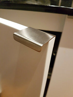 LEK Stainless Steel LIP PULL Door HANDLES Kitchen Cabinet Wardrobe Doors 45mm