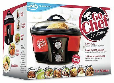 JML Go Chef 8 in 1 Cooker 1500W - Red TRUSTED EBAY SELLER CHEAP !