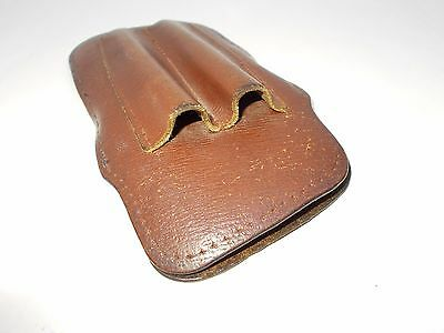 Vintage fountain ball point pen genuine leather case for eyeglasses 1950's