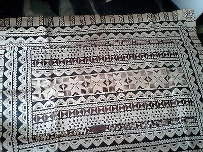 old bark cloth believed South Seas 95cm x 128 cm approx