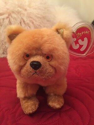 Ty Beanie Baby Dog Chinese Zodiac Chow Chow soft toy retired new with tag