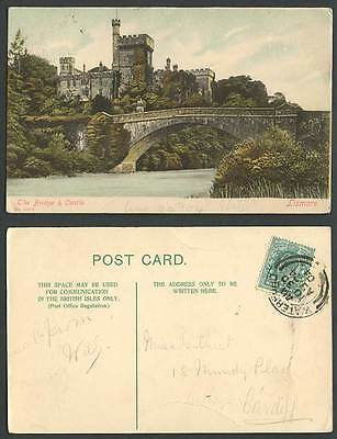 Ireland Co Waterford 1904 Old Postcard THE BRIDGE and CASTLE LISMORE River Scene
