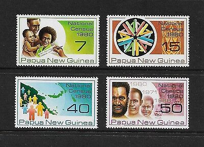 PAPUA NEW GUINEA - mint 1980 National Census, No.2, set of 4, MNH MUH
