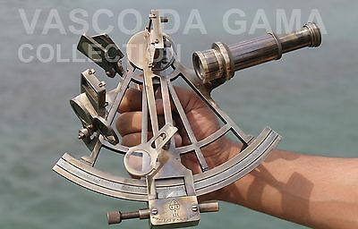 Nautical Solid Brass Sextant Handmade Henry Barrow & Co. Sextant Ship Instrument