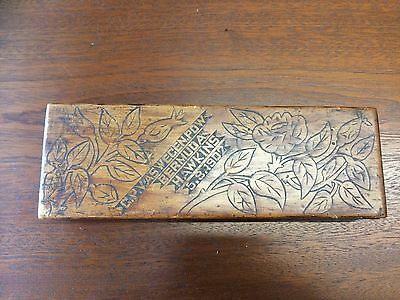Hand Made Wooden Box  With Pow Inscription 1902