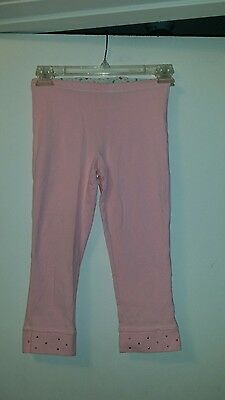 """""""so"""" Girls Pink Capri Leggings With Tiny Silver Studded Leg Opening(Size: 10/12)"""