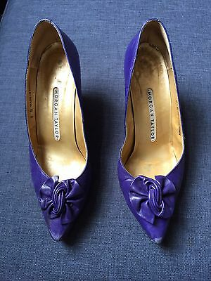 Morgan Taylor Purple Vintage Ladies Leather Shoes Size 6
