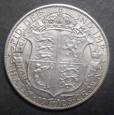 Great Britain 1926 George V  Silver Halfcrown aUNC Large Part Mint  Lustre