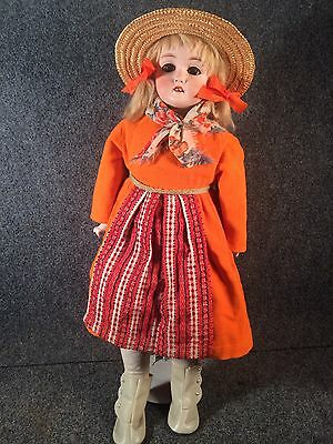 """20"""" Antique KLING All Bisque signed German Doll c.1890 Excellent Condition"""