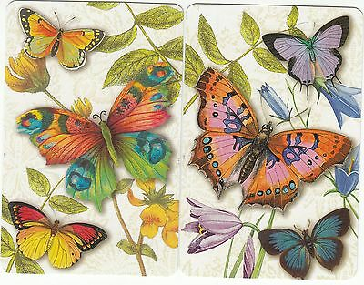 Playing Swap Cards  GENUINE 2 single PRETTY BUTTERFLIES #1