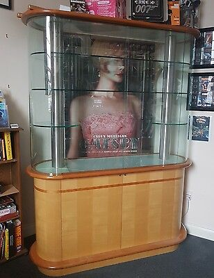 Art Deco-Style Glass Display Unit / Trophy Cabinet
