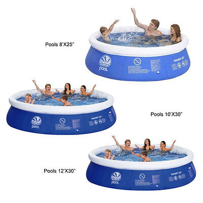 Jilong 8ft 10ft 12ft Prompt Set Swimming Inflatable Paddling Pool Garden Outdoor