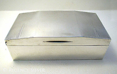 Art Deco Solid Sterling Silver English Hallmark Cigarette Cigar Trinket Case/Box