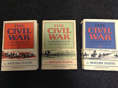THE CIVIL WAR A NARRATIVE - A COLLECTION OF THREE BOOKS - Foote, Shelby.