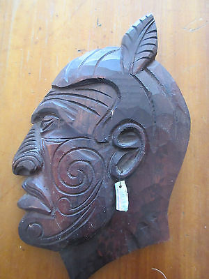 New Zealand Vintage Carved Maori Chief