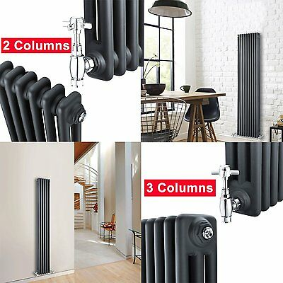 Traditional Victorian Radiators Vertical Anthracite Column Panel Central Heating