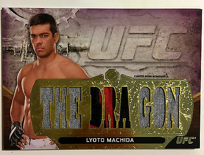 Topps Ufc 2014 Knockout Lyoto Machida 3 Clr Fight Worn Relic 17/27 The Dragon