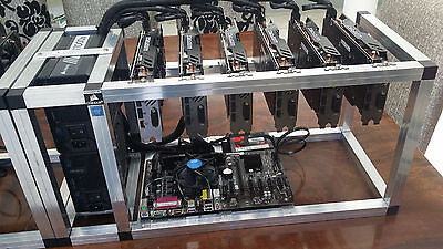 Mining Rig Ethereum 6x GTX1050 Ti 4GB in Open Air Frame