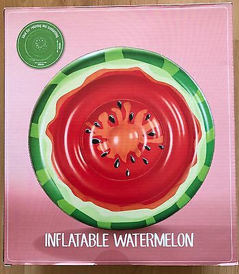 LARGE WATERMELON INFLATABLE FLOAT POOL TOY SWIMMING SUNBATHING 140cm x 140cm