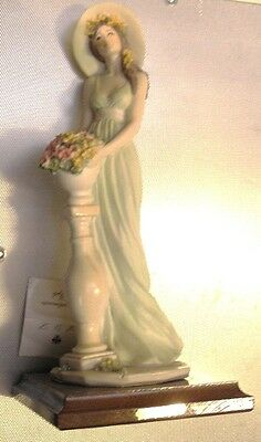 HAND PAINTED ART DECO LADY FIGURINE  signed by VITTORIO TESSARO