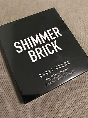Bobbi Brown Shimmer Brick Compact Set in Rose With Brush