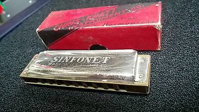 Vintage Harmonica,Chris-Kratt,SINFONET,USA Made Classic Blues,Country Harp,Rare!