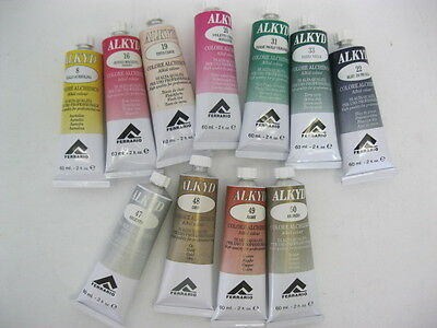 Professional Artist Quality FERRARIO ALKYD EXTRA-FINE Paint 60ml Choose Y Colour