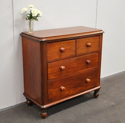 Lovely Antique Victorian Rustic Cedar Chest Of Drawers * Tallboy  c1880s