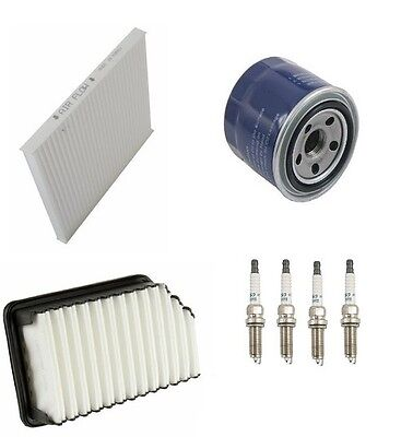 Tune Up Kit Filters Wire Set /& Spark Plugs for Hyundai Santa Fe 2.4L; 2.7L 01-03