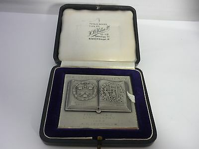 Stunning Large Rare Sterling Silver Stationers Company & Printing Medal 1938