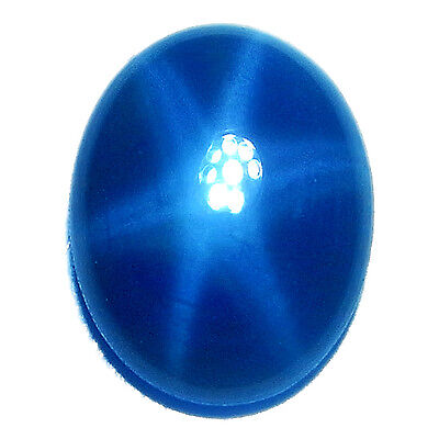1 Piece 2.35 CT Oval Cabochon NATURAL Blue Star Sapphire 6 RAYS