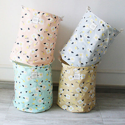 Baby kids Toy Clothes Laundry basket storage bag With Handles Sundries Barrel