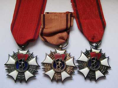 After WW2 Polish Poland set 3 orders of labour banner 2nd class different ver.