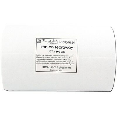 """Iron On Tearaway Embroidery Machine Stabilizer Backing - 10""""x100Yd Roll"""