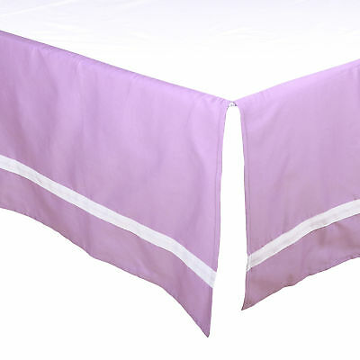 Purple Tailored Crib Dust Ruffle with White Stripe by The Peanut Shell