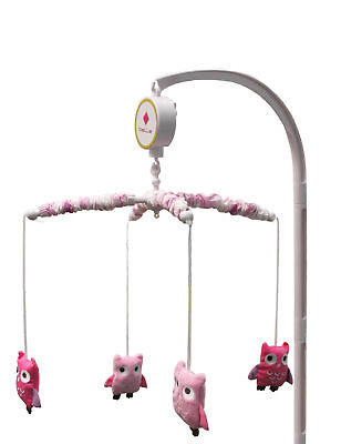 Dancing Owls Musical Crib Mobile Music Toy Pink Lavender Crib by Belle